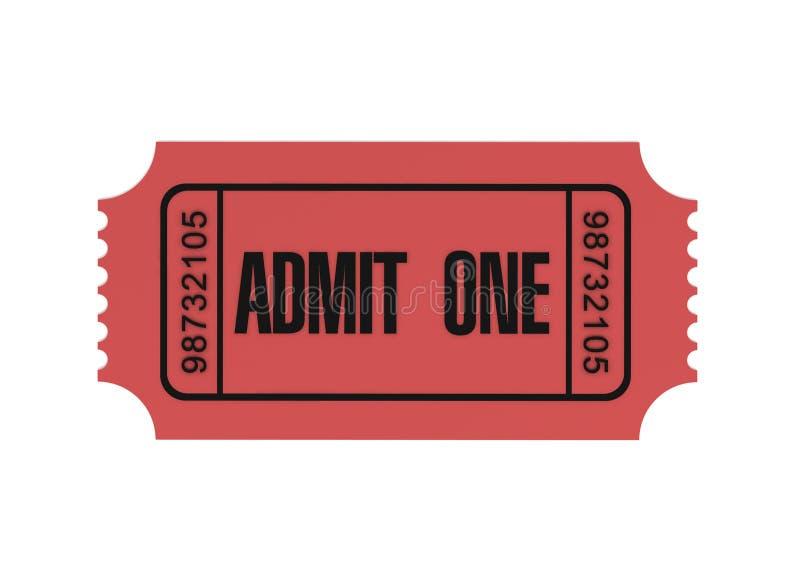 Το εισιτήριο αναγνωρίζει μια τρισδιάστατη απεικόνιση έννοιας διανυσματική απεικόνιση