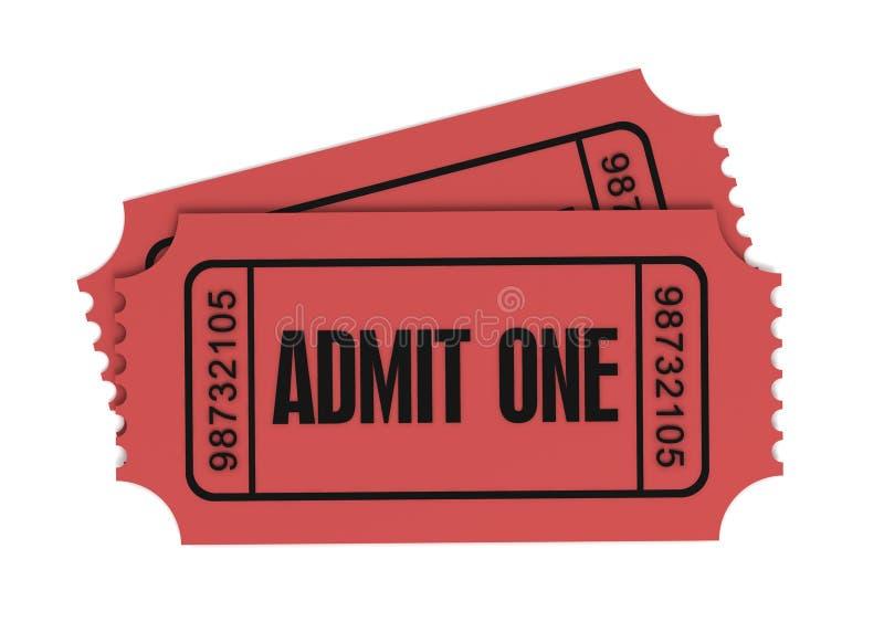 Το εισιτήριο αναγνωρίζει μια τρισδιάστατη απεικόνιση ελεύθερη απεικόνιση δικαιώματος