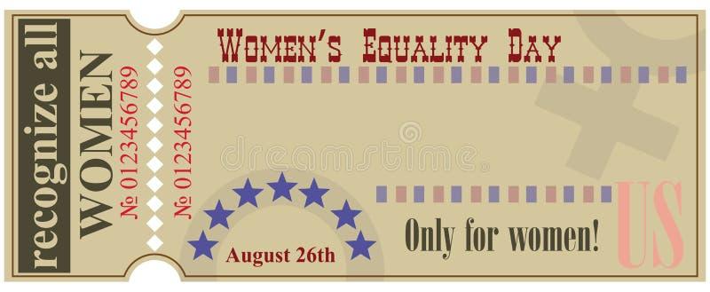 Το εισιτήριο αναγνωρίζει όλες τις γυναίκες ελεύθερη απεικόνιση δικαιώματος