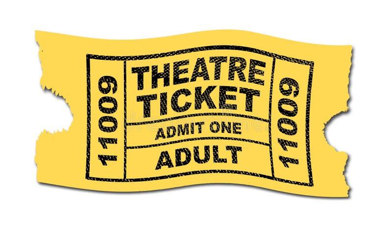 Το εισιτήριο θεάτρων αναγνωρίζει τον ενήλικο διανυσματική απεικόνιση