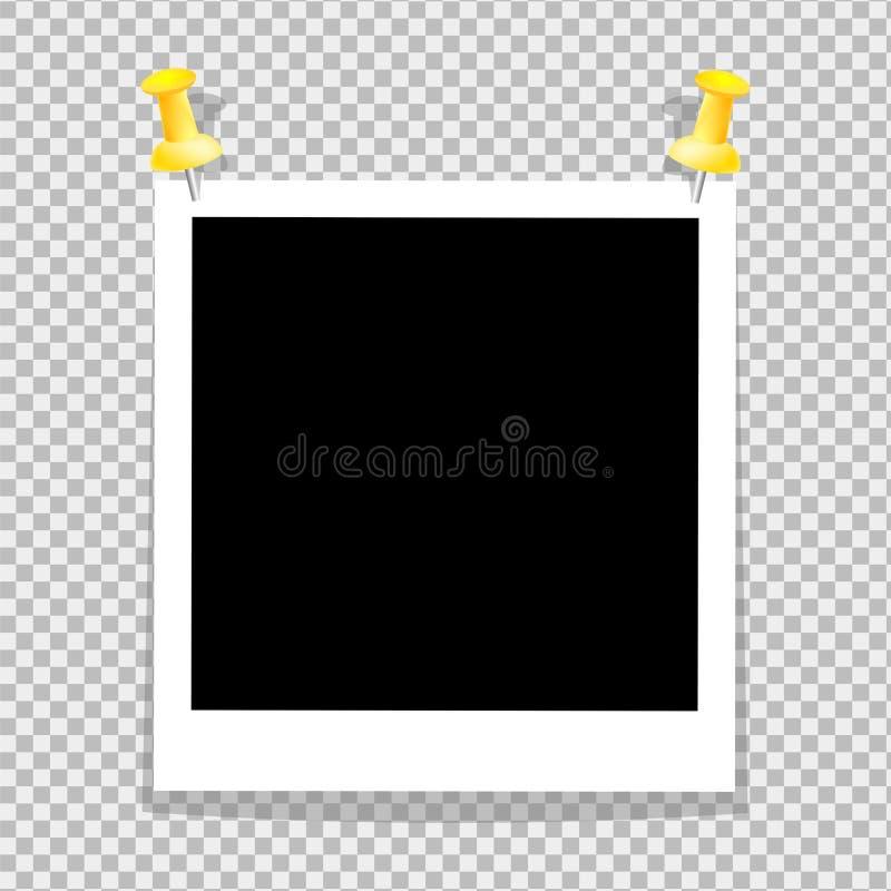 Το εκλεκτής ποιότητας σύνολο πλαισίου φωτογραφιών είναι διαστιγμένο στους κατόχους εγγράφου τοίχων Από τη σκιά του υπέρ-επαγγελμα διανυσματική απεικόνιση