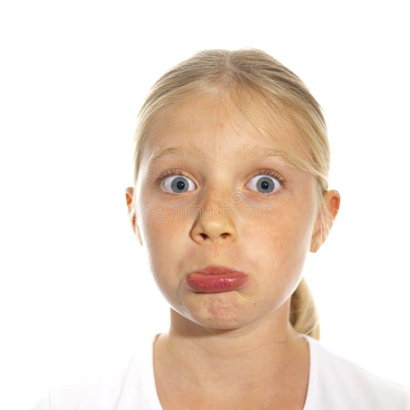 το εκφραστικό κορίτσι S προσώπου Στοκ Εικόνες