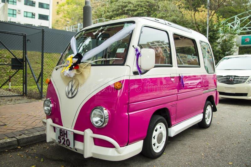 Το εκλεκτής ποιότητας γαμήλιο αυτοκίνητο του Volkswagen στοκ φωτογραφία με δικαίωμα ελεύθερης χρήσης