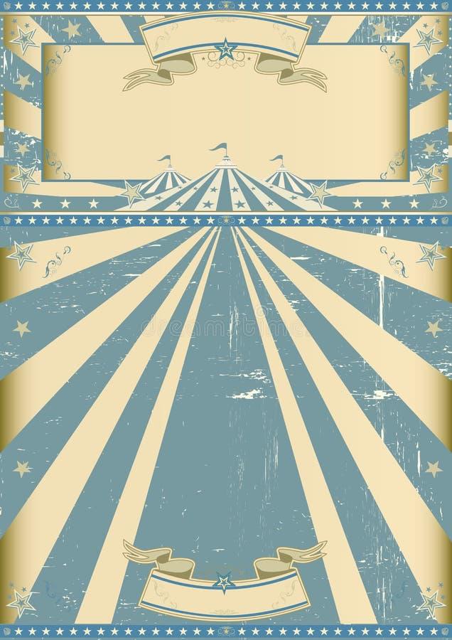 Το εκλεκτής ποιότητας τσίρκο μπλε παρουσιάζει στοκ φωτογραφία με δικαίωμα ελεύθερης χρήσης