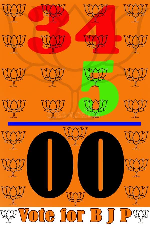 Το 2016 εκλογή στην ψηφοφορία της δυτικής Βεγγάλης για BJP ελεύθερη απεικόνιση δικαιώματος
