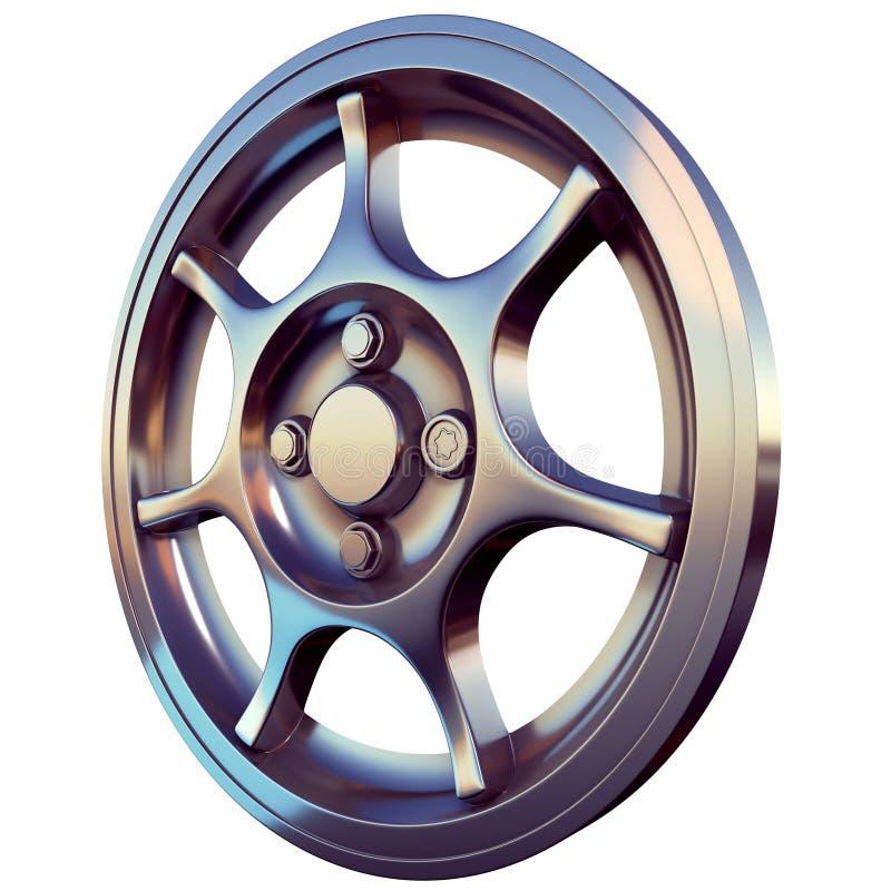 Το ελαφρύ πλαίσιο κραμάτων Sportcar τρισδιάστατο δίνει τη σωστή άποψη στοκ εικόνες