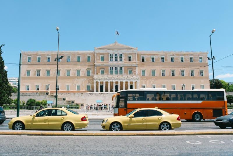 Το ελληνικό Κοινοβούλιο στην Αθήνα, Ελλάδα στοκ εικόνες με δικαίωμα ελεύθερης χρήσης