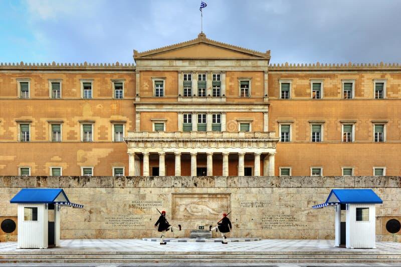 το ελληνικό Κοινοβούλιο στοκ εικόνα με δικαίωμα ελεύθερης χρήσης