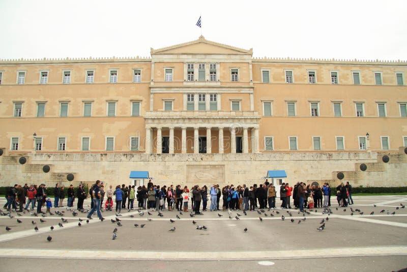 Το ελληνικό Κοινοβούλιο στοκ εικόνες