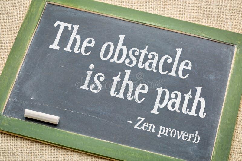 Το εμπόδιο είναι η παροιμία της Zen πορειών στοκ εικόνες με δικαίωμα ελεύθερης χρήσης