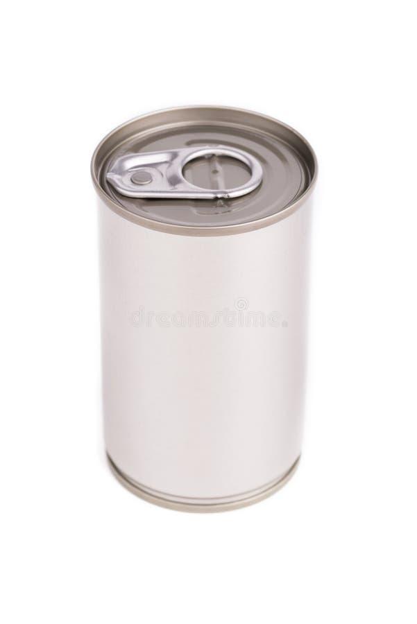 Το ενιαίο μέταλλο μπορεί στο άσπρο υπόβαθρο στοκ εικόνα με δικαίωμα ελεύθερης χρήσης