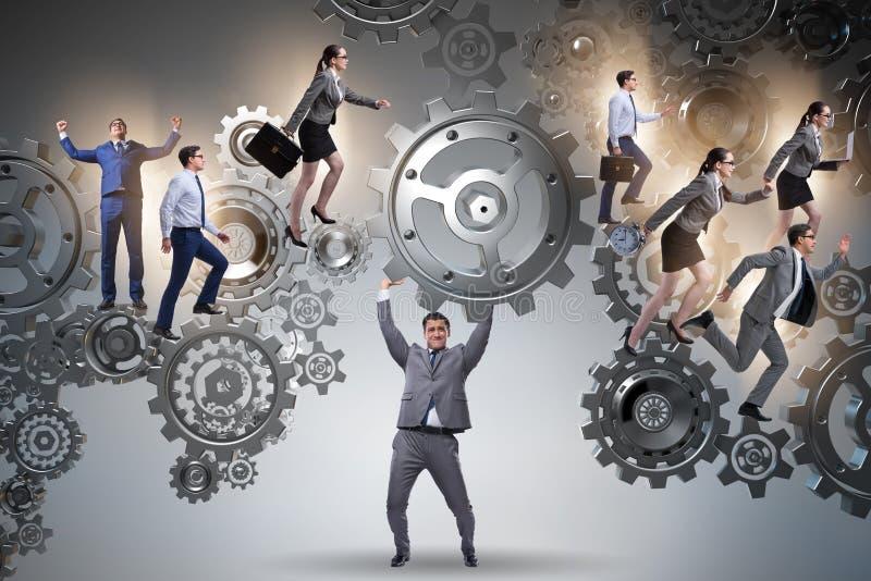 Το ενισχυτικό εργαλείο επιχειρηματιών στην έννοια ομαδικής εργασίας απεικόνιση αποθεμάτων
