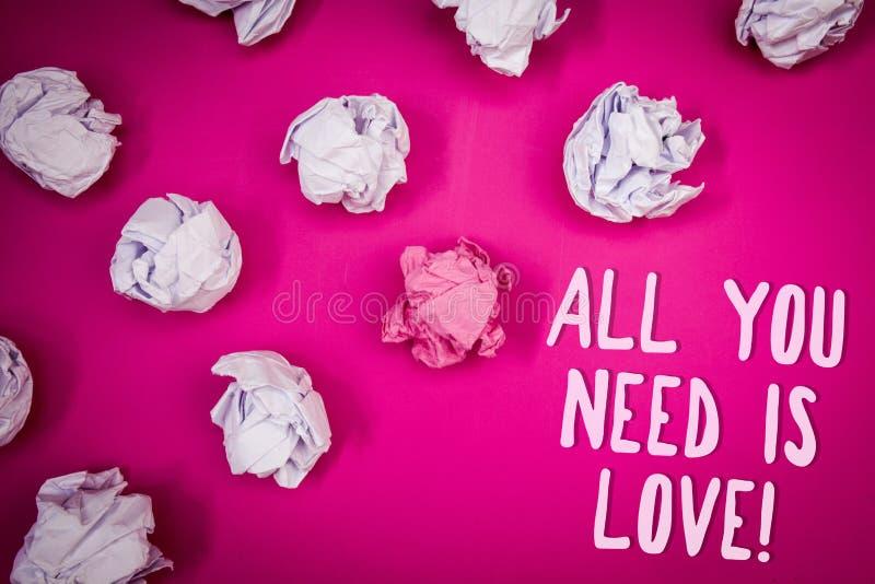 Το εννοιολογικό χέρι που γράφει παρουσιάζοντας όλους που χρειάζεστε είναι αγάπη κινητήρια Βαθύ ειδύλλιο Ι εκτίμησης αναγκών αγάπη στοκ εικόνα με δικαίωμα ελεύθερης χρήσης