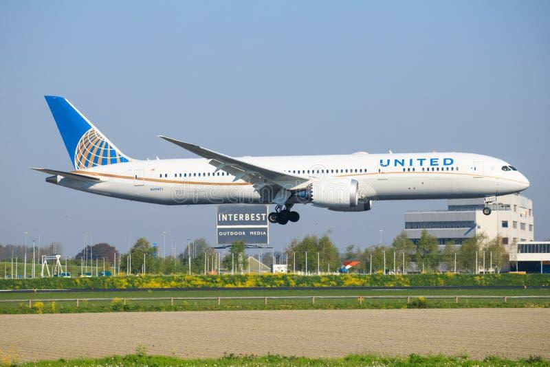 Το ενωμένο Boeing 787 στοκ φωτογραφία με δικαίωμα ελεύθερης χρήσης