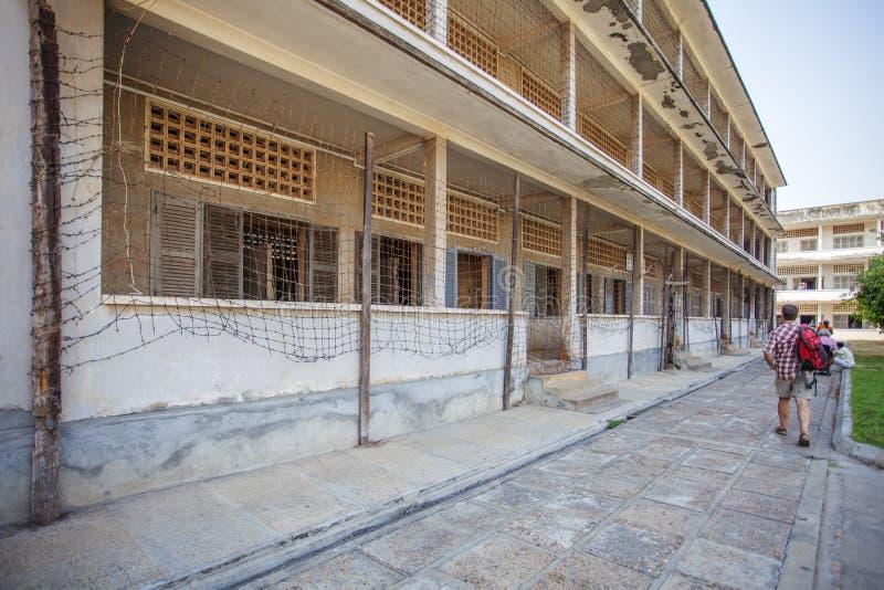 Το εξωτερικό του μουσείου Tuol Sleng Genoside, Πνομ Πενχ, Καμπότζη στοκ φωτογραφίες