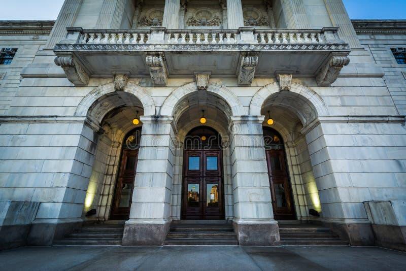 Το εξωτερικό του Ρόουντ Άιλαντ Βουλή, στην πρόνοια, Rho στοκ φωτογραφία με δικαίωμα ελεύθερης χρήσης