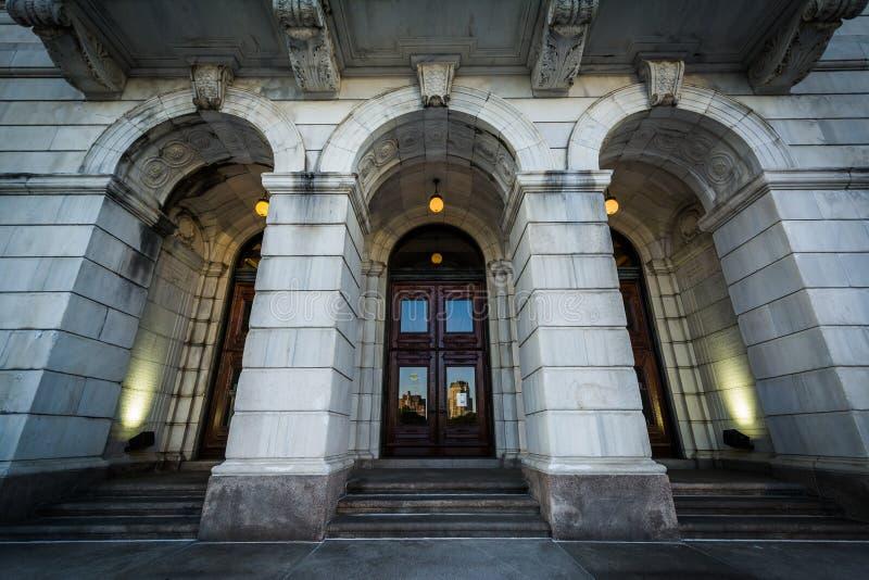 Το εξωτερικό του Ρόουντ Άιλαντ Βουλή, στην πρόνοια, Rho στοκ φωτογραφία
