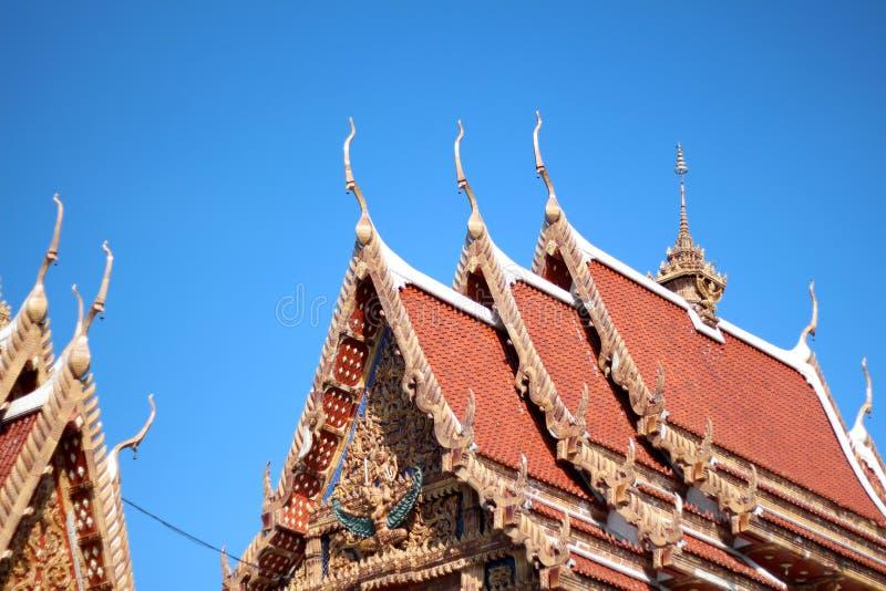 Το επίπεδο πυροβόλησε τον ταϊλανδικό ναό στην Ταϊλάνδη στοκ εικόνα με δικαίωμα ελεύθερης χρήσης