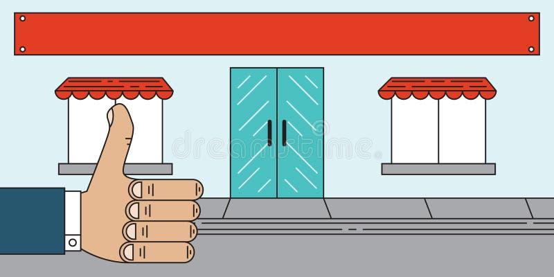 Το επίπεδο δόσιμο σκηνής πωλητών φυλλομετρεί επάνω ελεύθερη απεικόνιση δικαιώματος