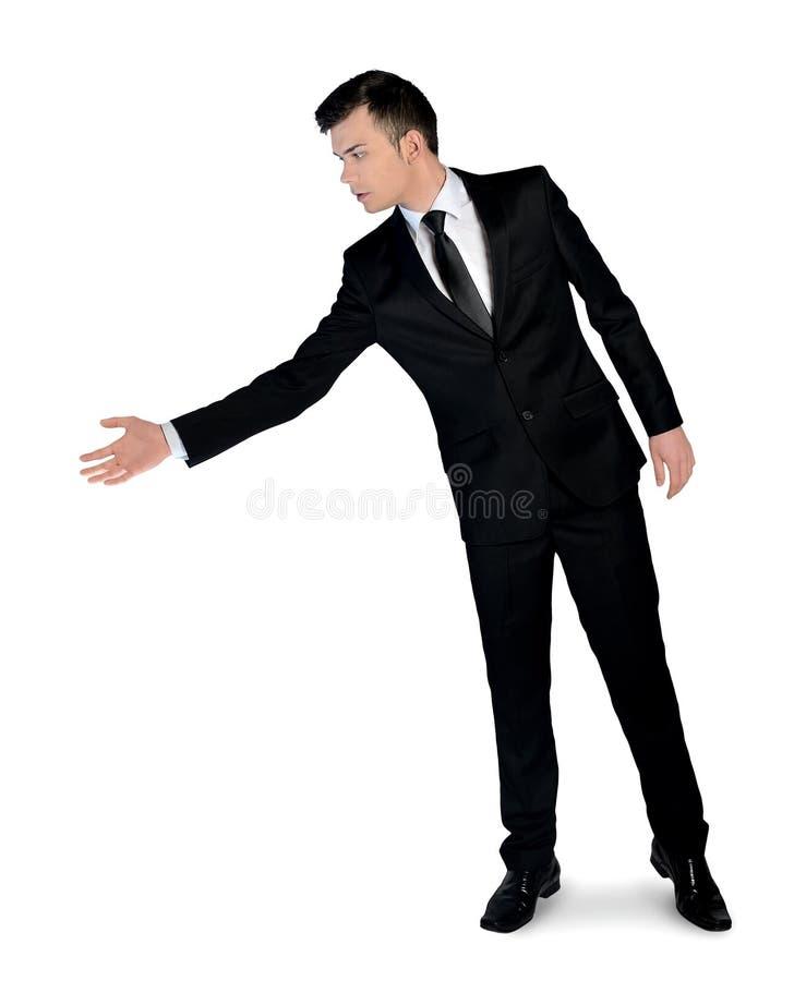 Το επιχειρησιακό άτομο δίνει το χέρι στοκ εικόνες