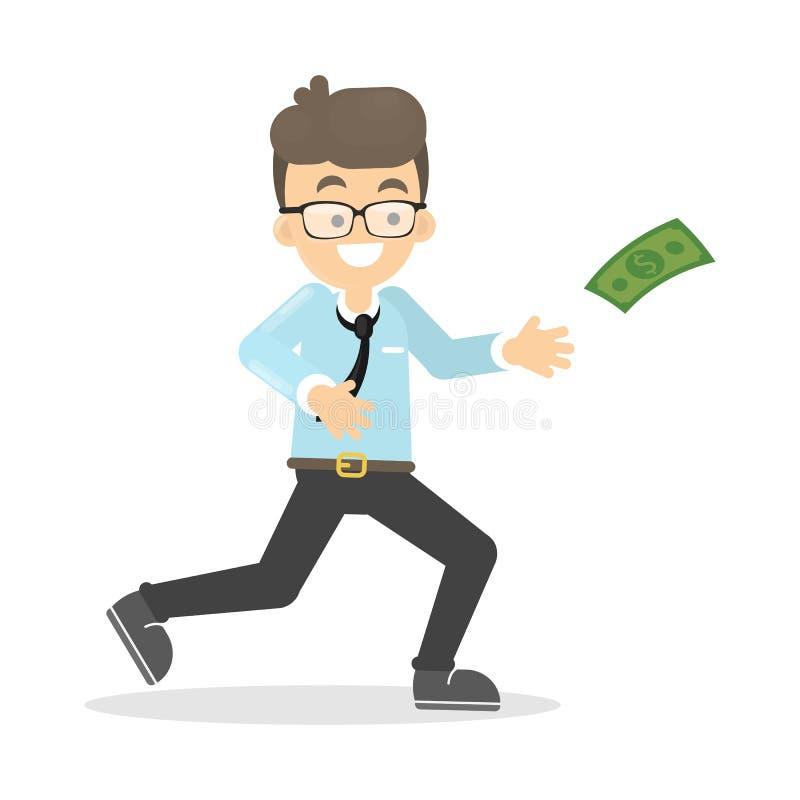 Το επιχειρησιακό άτομο πιάνει τα χρήματα ελεύθερη απεικόνιση δικαιώματος
