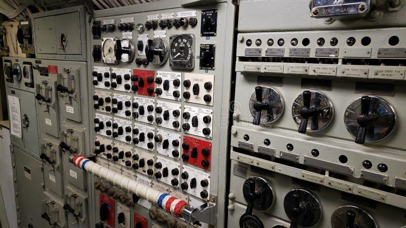 Το εσωτερικό θαλάσσιο U μουσείων S S Razorback στοκ φωτογραφία με δικαίωμα ελεύθερης χρήσης