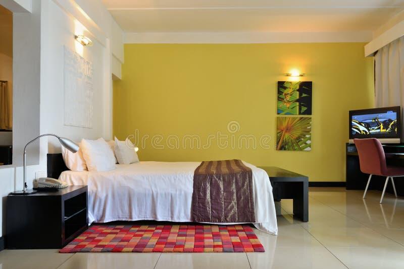 Το εσωτερικό ξενοδοχείων τοποθέτησης Ravenala, Μαυρίκιος στοκ φωτογραφία
