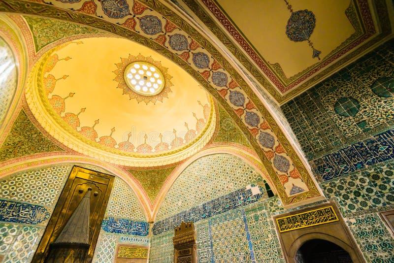 Το εσωτερικό του παλατιού Topkapi στοκ φωτογραφία
