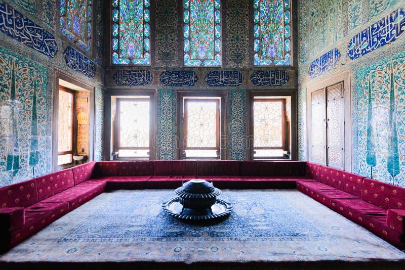 Το εσωτερικό του παλατιού Topkapi στοκ φωτογραφίες