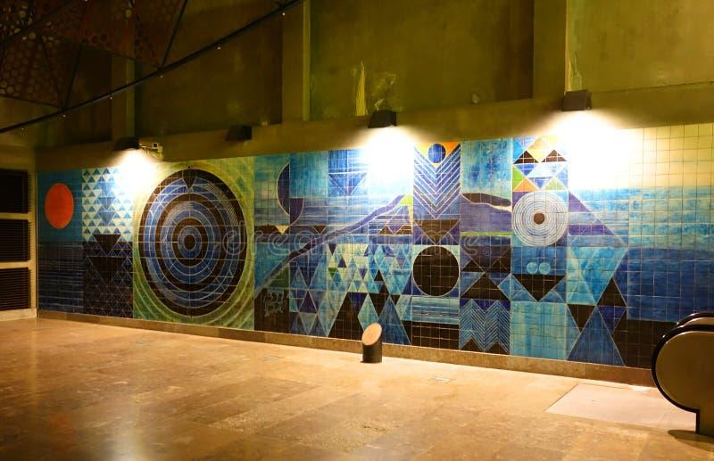 Το εσωτερικό του σταθμού Oriente μετρό στοκ εικόνες