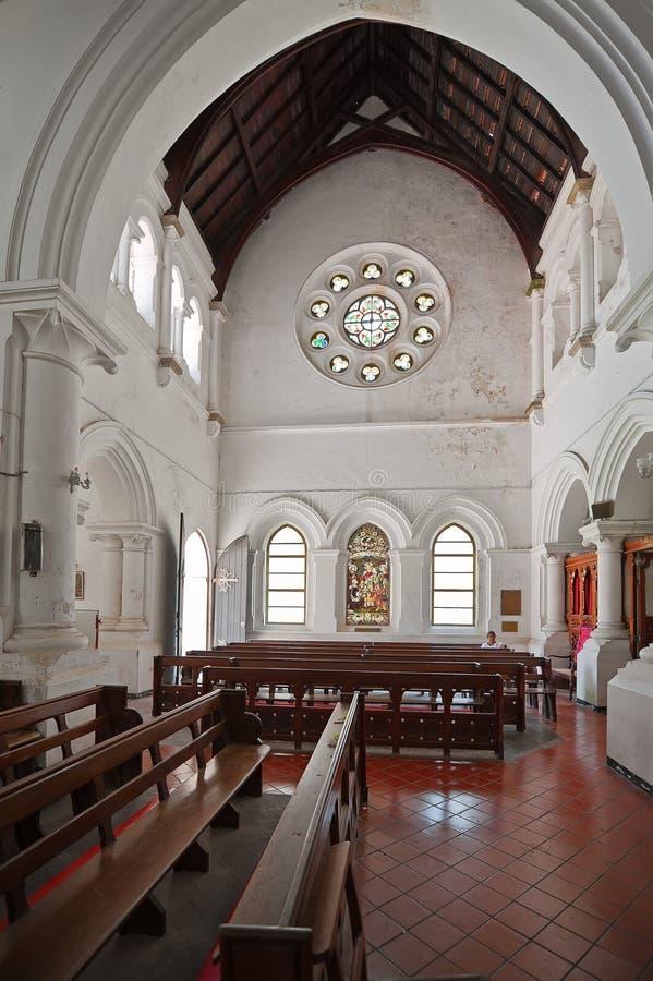 Το εσωτερικό όλου του Αγίου Αγγλικανική Εκκλησία στο οχυρό Galle στη Σρι Λάνκα στοκ εικόνες