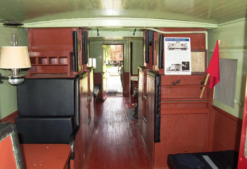 1949 το εσωτερικό 90219, Clifton Γ & Ο Caboose σφυρηλατεί, στοκ φωτογραφίες