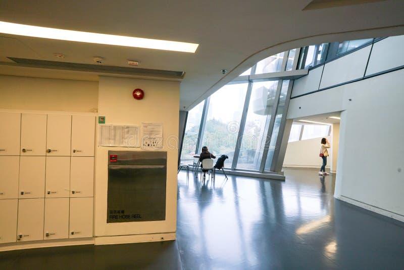 Το εσωτερικό Jockey του πύργου καινοτομίας λεσχών, Χονγκ Κονγκ στοκ φωτογραφία με δικαίωμα ελεύθερης χρήσης