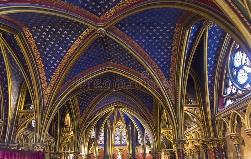 Το εσωτερικό sainte-Chapelle στοκ φωτογραφίες με δικαίωμα ελεύθερης χρήσης