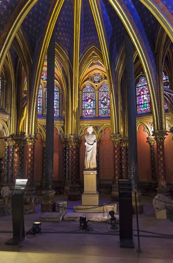 Το εσωτερικό sainte-Chapelle στοκ φωτογραφία