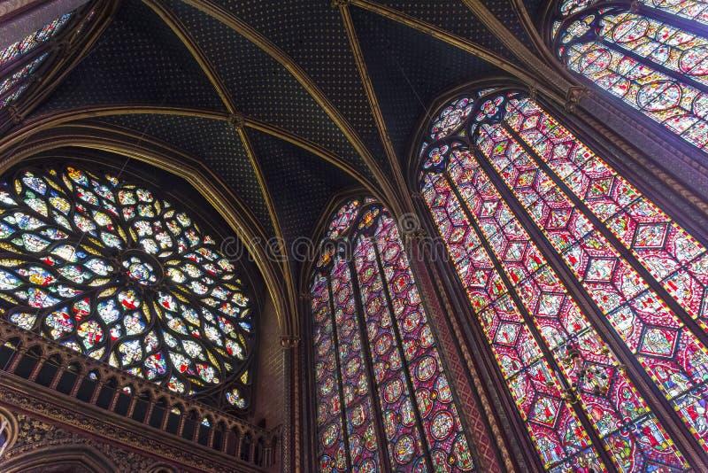 Το εσωτερικό sainte-Chapelle στοκ εικόνες