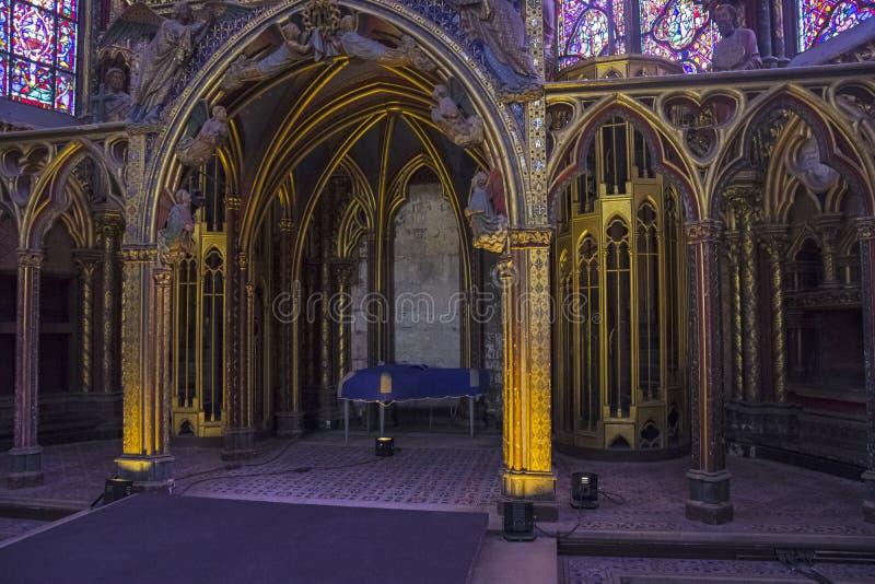 Το εσωτερικό sainte-Chapelle στοκ εικόνα