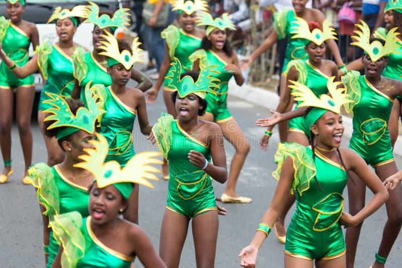 Το ετήσιο καρναβάλι στο κεφάλαιο στο Πράσινο Ακρωτήριο, Praia στοκ εικόνα με δικαίωμα ελεύθερης χρήσης