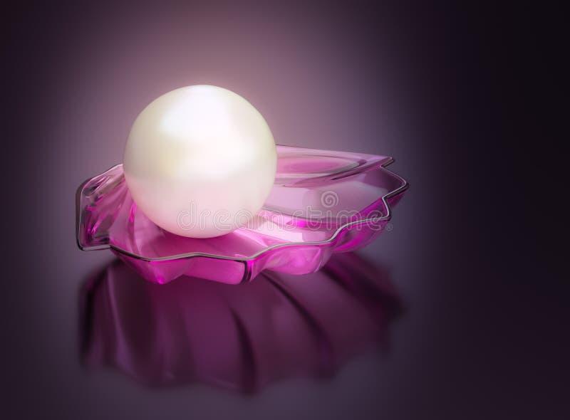 Το λευκό μαργαριταριών λάμπει ελεύθερη απεικόνιση δικαιώματος