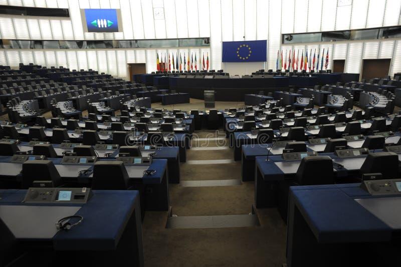 Το Ευρωπαϊκό Κοινοβούλιο Στρασβούργο στοκ εικόνες