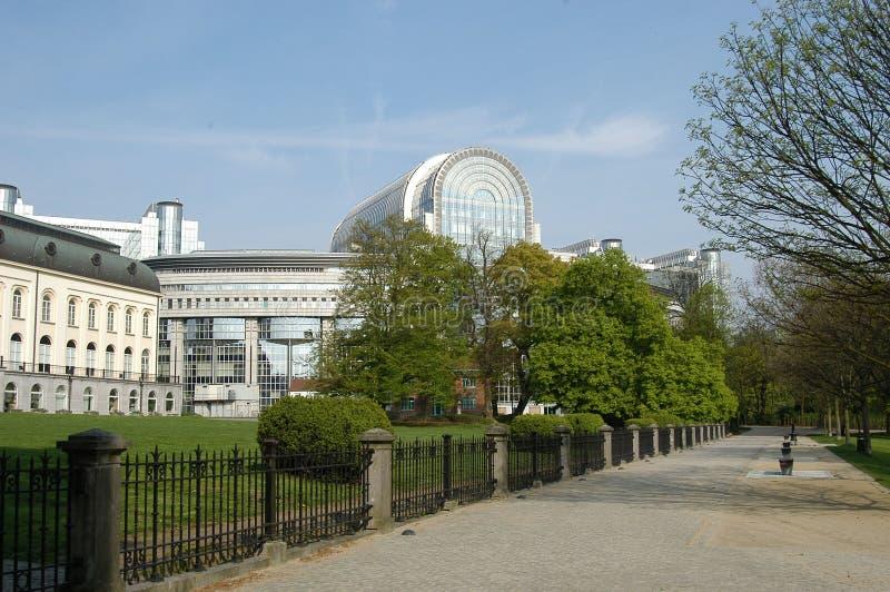 το Ευρωπαϊκό Κοινοβούλιο των Βρυξελλών στοκ εικόνα
