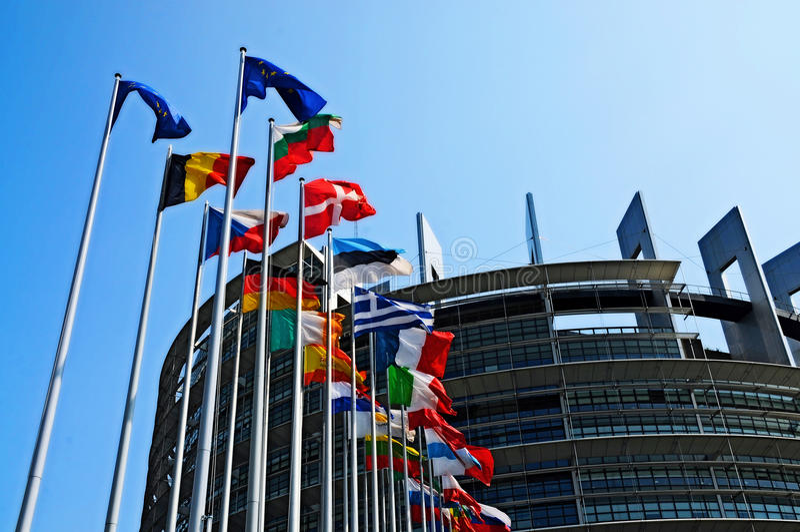 Το Ευρωπαϊκό Κοινοβούλιο στοκ φωτογραφία με δικαίωμα ελεύθερης χρήσης
