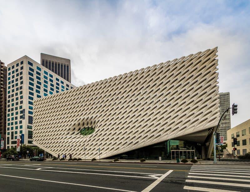 Το ευρύ μουσείο σύγχρονης τέχνης - Λος Άντζελες, Καλιφόρνια, ΗΠΑ στοκ εικόνες με δικαίωμα ελεύθερης χρήσης