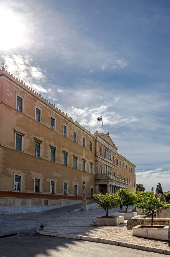 Το ελληνικό Κοινοβούλιο στοκ εικόνα