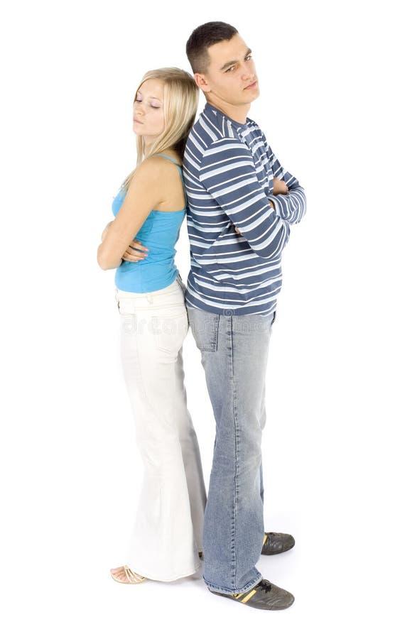 το ζεύγος προέσβαλε τις νεολαίες στοκ φωτογραφία με δικαίωμα ελεύθερης χρήσης