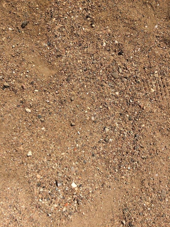 Το ζουμ στρώνουν με άμμο έξω και η σύσταση αμμοχάλικου στοκ φωτογραφίες με δικαίωμα ελεύθερης χρήσης
