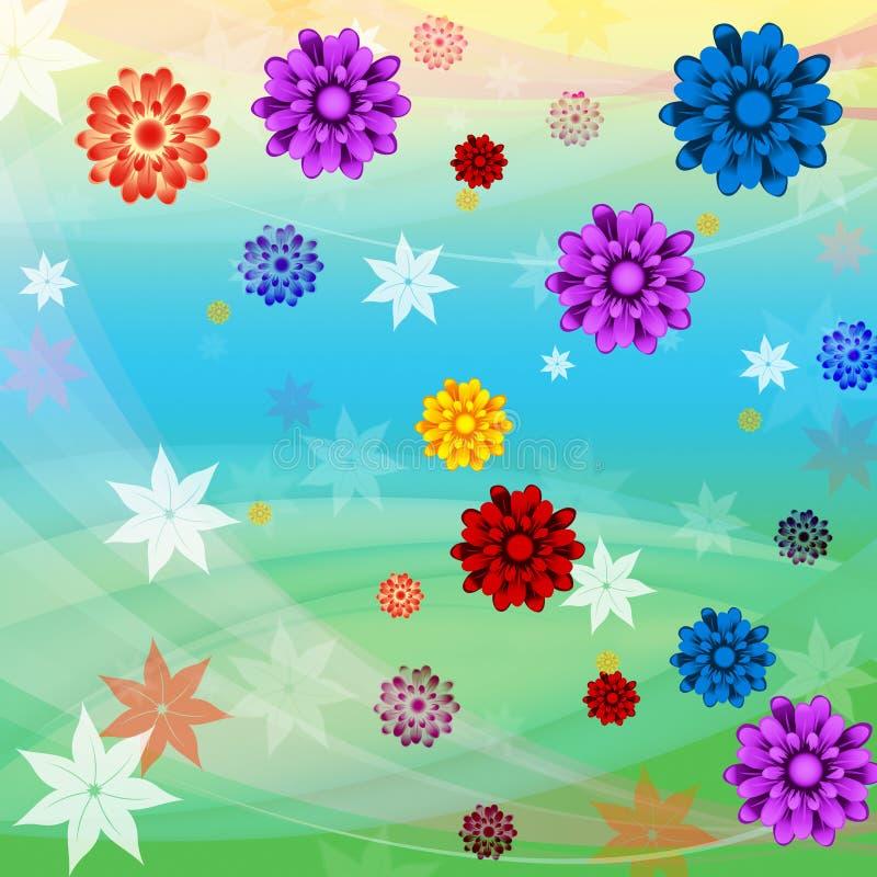 Το ζωηρόχρωμο υπόβαθρο λουλουδιών σημαίνει τη Floral αύξηση και την παραλία απεικόνιση αποθεμάτων