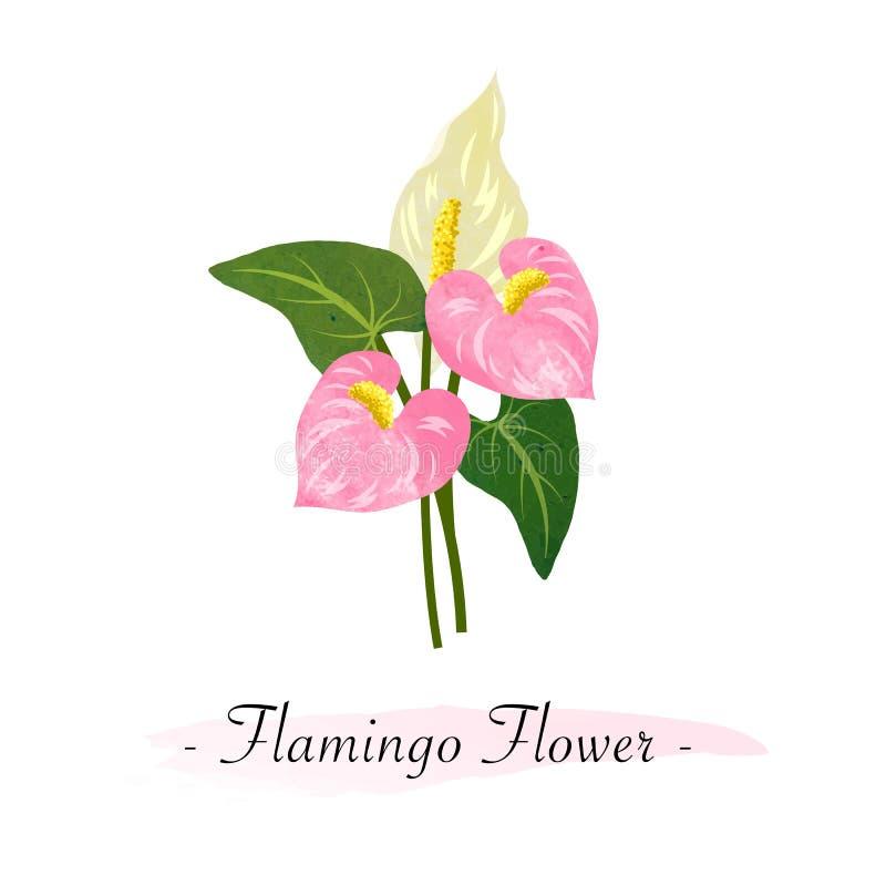 Το ζωηρόχρωμο watercolor λουλούδι βοτανικών κήπων σύστασης διανυσματικό οδοντώνει διανυσματική απεικόνιση