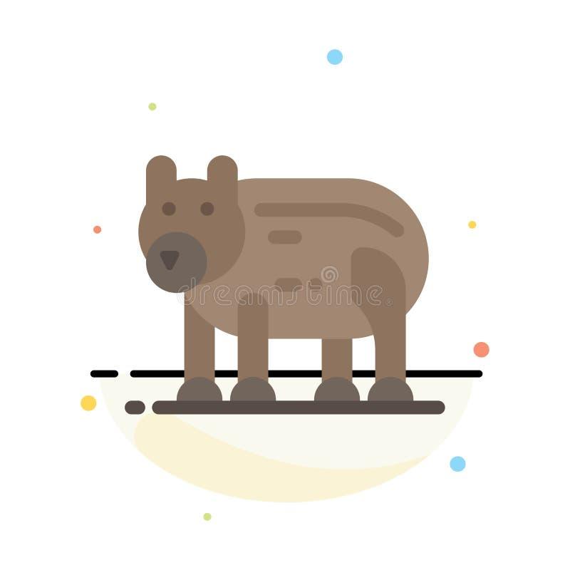 Το ζώο, αντέχει, πολικός, αφηρημένο επίπεδο πρότυπο εικονιδίων χρώματος του Καναδά διανυσματική απεικόνιση