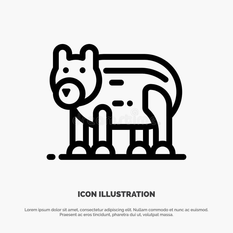 Το ζώο, αντέχει, πολικός, διάνυσμα εικονιδίων γραμμών του Καναδά απεικόνιση αποθεμάτων